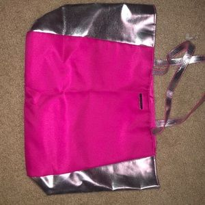 Pink tote bag by Clinique